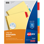 AVERY BIG TAB DIVIDERS 5 PACK