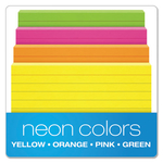 OXFORD NEON ASSORTED 3X5 INDEX CARDS