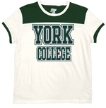 BLUE 84 LADIES S/S T-SHIRT WITH YORK COLLEGE ACROSS FRONT