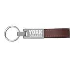 KEY CHAIN LUXE LEATHER STRAP METAL