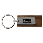KEY CHAIN LUXE WOOD WITH YORK COLLEGE