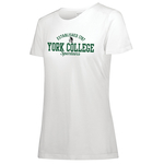 AUGUSTA LADIES S/S T-SHIRT WITH 1787 OVER YORK COLLEGE SPARTANS