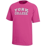 CHAMPION YOUTH YORK OVER COLLEGE SHORT SLEEVE T-SHIRT