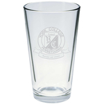 PINT GLASS 16 OZ ETCHED WITH SEAL