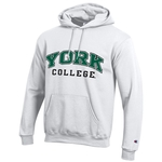 CHAMPION TWILL YORK COLLEGE HOODED SWEATSHIRT