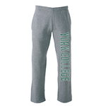 OURAY YORK COLLEGE DISTRESSED OPEN SWEATPANT