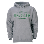 OURAY HOODED SWEATSHIRT WITH EST 1787 OVER YORK COLLEGE SPARTANS