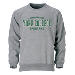 OURAY CREW SWEATSHIRT WITH EST 1787 OVER YORK COLLEGE SPARTANS