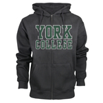 OURAY FULL ZIP HOODED SWEATSHIRT WITH YORK OVER COLLEGE