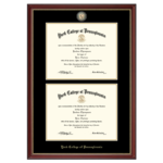 CHURCH HILL CLASSICS MASTERPIECE MEDALLION DOUBLE DIPLOMA FRAME