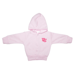 CREATIVE KNITWEAR INFANT BUTTON UP HOODED SWEATSHIRT