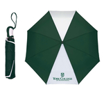 UMBRELLA GREEN AND WHITE 42 INCHES AUTOMATIC OPENING