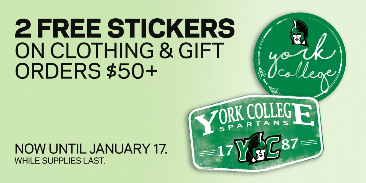 2 Free stickers with $50 purchase