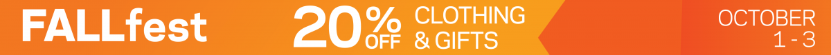 Fallfest 20% off Clothing and Gifts