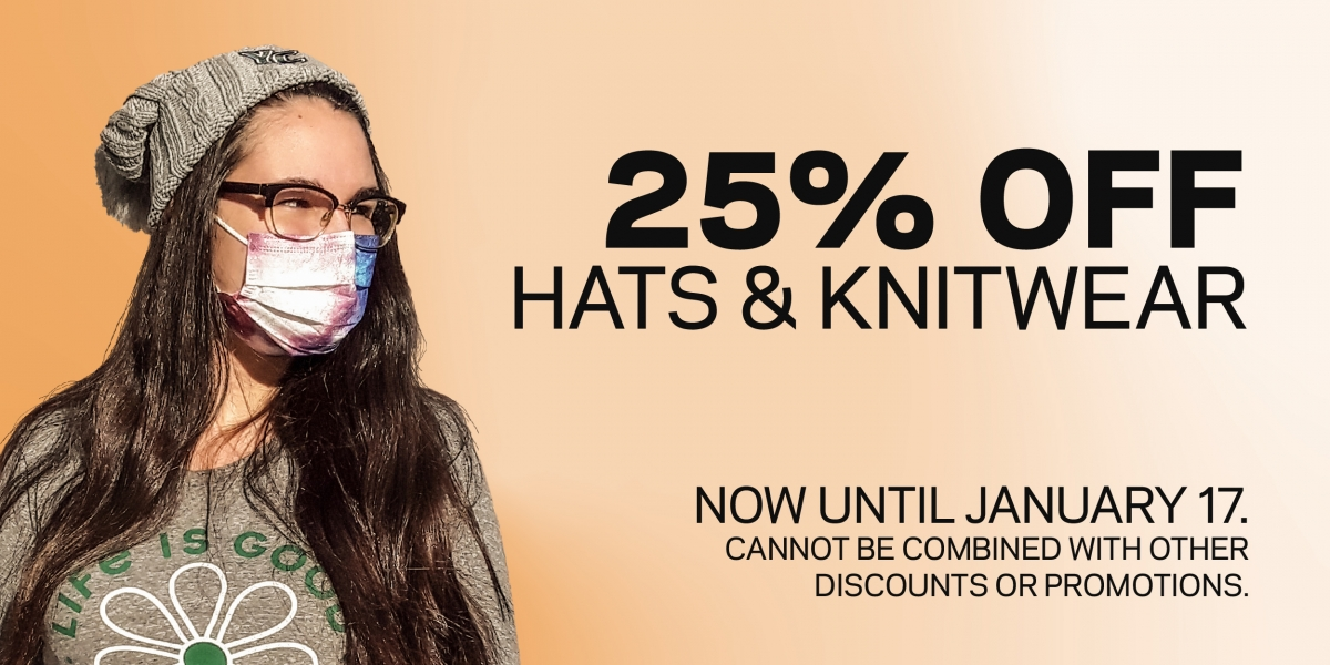 Hats & Knitwear 25% off